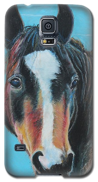Galaxy S5 Case featuring the painting Portrait Of A Wild Horse by Jeanne Fischer