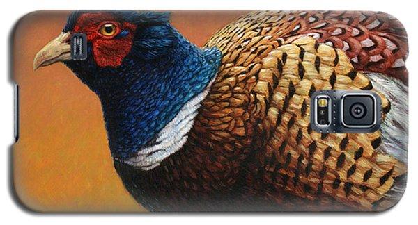 Pheasant Galaxy S5 Case - Portrait Of A Pheasant by James W Johnson