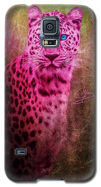 Portrait Of A Pink Leopard Galaxy S5 Case
