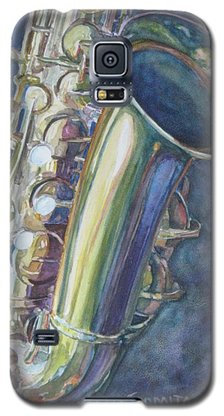 Portrait Of A Sax Galaxy S5 Case by Jenny Armitage