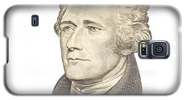 Portrait Of Alexander Hamilton On White Background Galaxy S5 Case by Keith Webber Jr