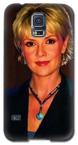 Portrait Of Amanda Tapping Galaxy S5 Case by P Dwain Morris