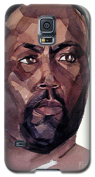 Watercolor Portrait Of An Athlete Galaxy S5 Case