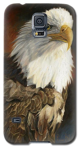 Portrait Of An Eagle Galaxy S5 Case by Lucie Bilodeau