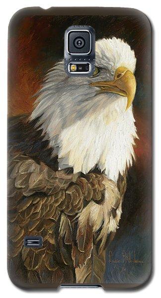Portrait Of An Eagle Galaxy S5 Case by Lucie Bilodeau