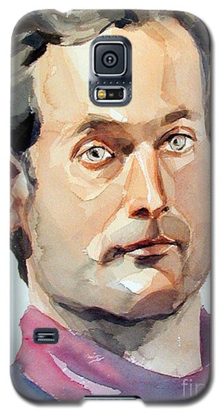 Watercolor Portrait Of A Man With Pale Blue Eyes Galaxy S5 Case