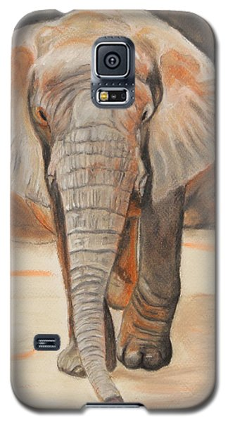 Galaxy S5 Case featuring the painting Portrait Of An Elephant by Jeanne Fischer