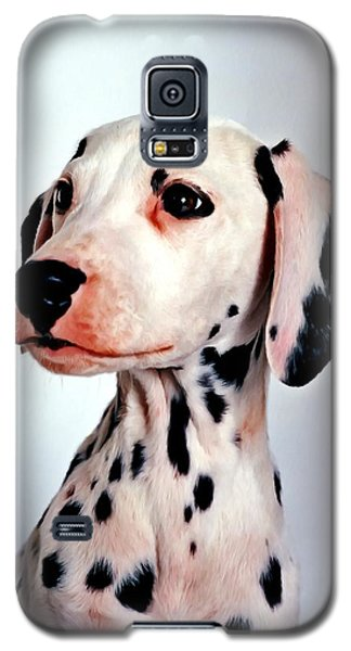 Portrait Of Dalmatian Dog Galaxy S5 Case by Lanjee Chee