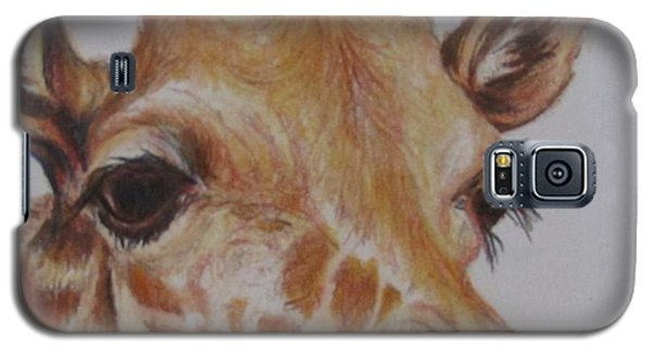 Portrait Of Giraffe Galaxy S5 Case