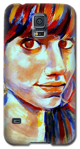Galaxy S5 Case featuring the painting Portrait Of Ivana by Helena Wierzbicki