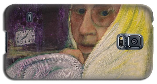 Galaxy S5 Case featuring the painting Portrait Of Jane Starner by Ron Richard Baviello