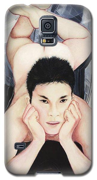 Portrait Of Konain Kwan Galaxy S5 Case by Ron Richard Baviello