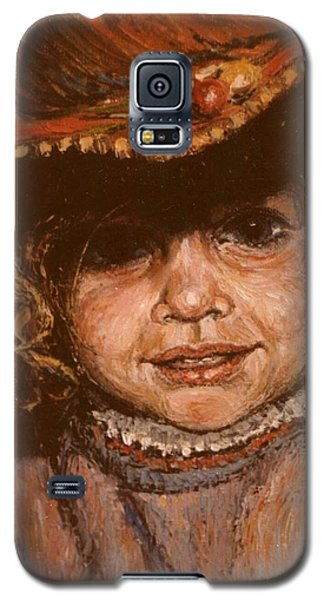 Galaxy S5 Case featuring the painting Portrait Of Leticia by Walter Casaravilla