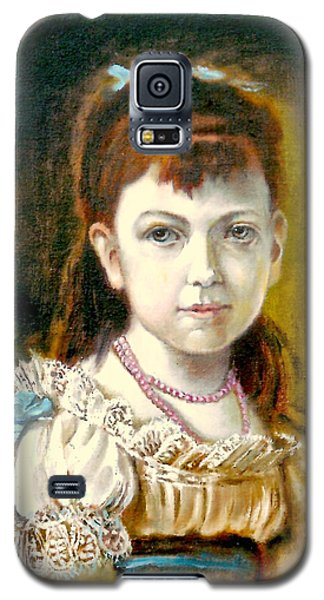 Galaxy S5 Case featuring the painting Portrait Of Little Girl by Henryk Gorecki
