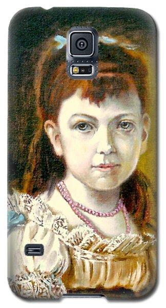 Portrait Of Little Girl Galaxy S5 Case