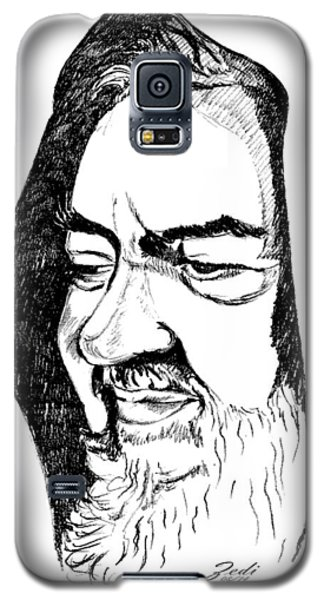 Galaxy S5 Case featuring the drawing Portrait Of Padre Pio by Ze  Di