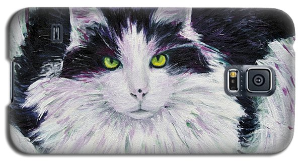Galaxy S5 Case featuring the painting Portrait Of Pj by Ron Richard Baviello