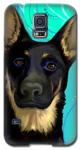 Galaxy S5 Case featuring the digital art Portrait Of A German Shepherd Dog by Karon Melillo DeVega