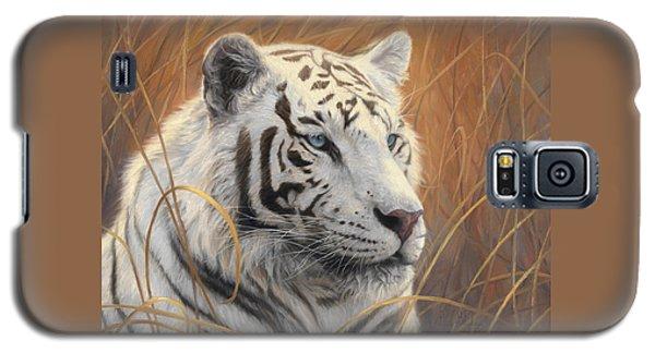 Tiger Galaxy S5 Case - Portrait White Tiger 2 by Lucie Bilodeau