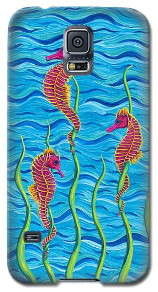 Galaxy S5 Case featuring the painting Poseidon's Steed Painting Bomber by Rebecca Parker