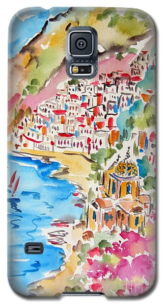 Positano Water Color Galaxy S5 Case by Roberto Gagliardi