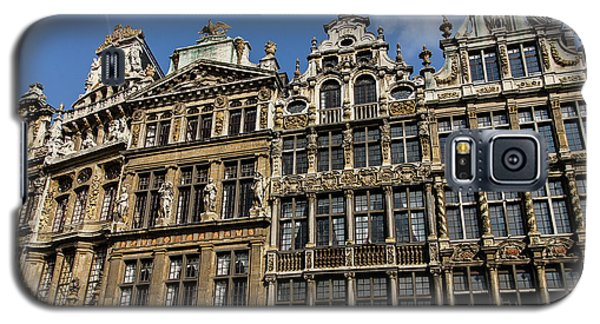 Galaxy S5 Case featuring the photograph Postcard From Brussels - Grand Place Elegant Facades by Georgia Mizuleva