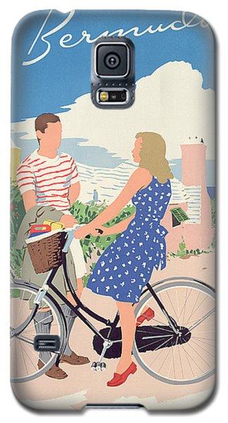 Bicycle Galaxy S5 Case - Poster Advertising Bermuda by Adolph Treidler