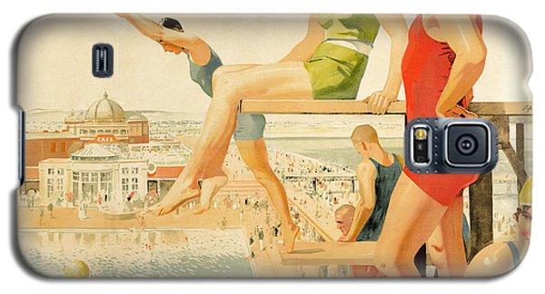 Poster Advertising Sunny Rhyl  Galaxy S5 Case by Septimus Edwin Scott