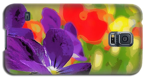 Posterized Viola 2 Galaxy S5 Case by Heidi Manly