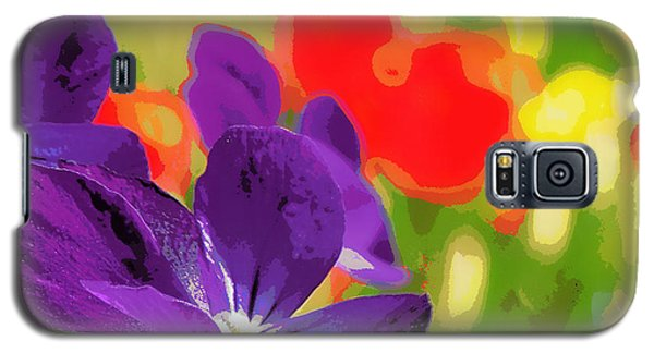 Posterized Viola Galaxy S5 Case by Heidi Manly