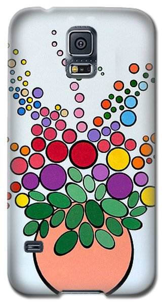 Potted Blooms - Orange Galaxy S5 Case