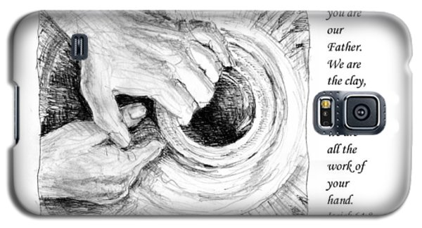 Galaxy S5 Case featuring the drawing Potter And Clay by Janet King