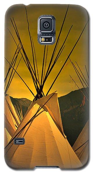 Powwow Camp At Sunrise Galaxy S5 Case