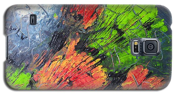 Galaxy S5 Case featuring the painting Powder And Puff by Lucy Matta