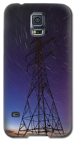 Power Line And Star Trails Galaxy S5 Case