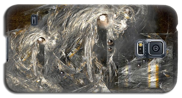 Galaxy S5 Case featuring the painting Light Energy Power Station by Alexa Szlavics