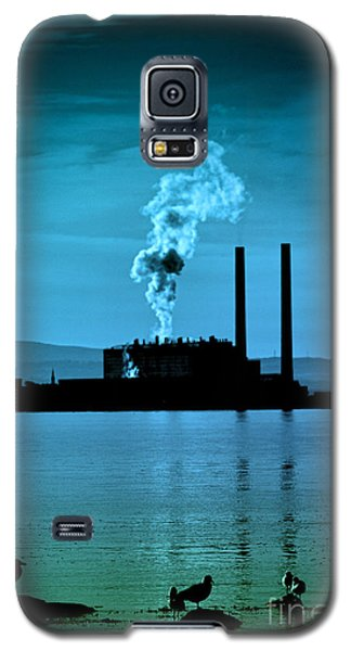 Power Station Silhouette Galaxy S5 Case