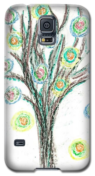 Galaxy S5 Case featuring the drawing Power Tree by Jill Lenzmeier