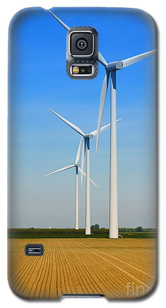 Galaxy S5 Case featuring the photograph Power Windmills by Nick  Biemans