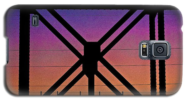 Powerlines And Girders At Sunset Galaxy S5 Case