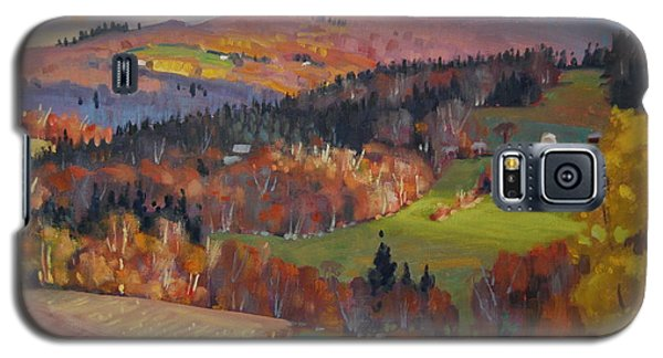 Galaxy S5 Case featuring the painting Pownel Vermont by Len Stomski