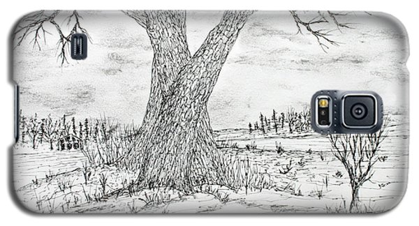 Galaxy S5 Case featuring the drawing Poygan Payment Tree by Jack G  Brauer
