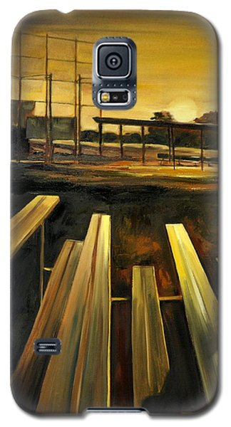 Galaxy S5 Case featuring the painting Practice Fields by Lindsay Frost