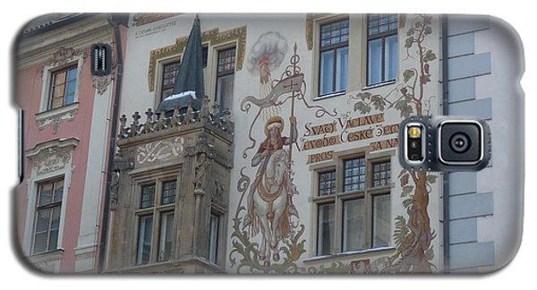 Galaxy S5 Case featuring the photograph Prague Art Deco Facade by Deborah Smolinske
