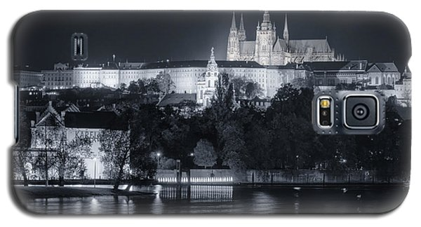 Prague Castle At Night Galaxy S5 Case by Joan Carroll