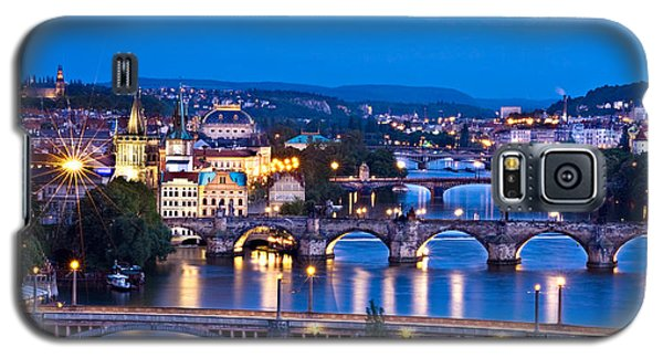 Prague Cityscape At Night Galaxy S5 Case