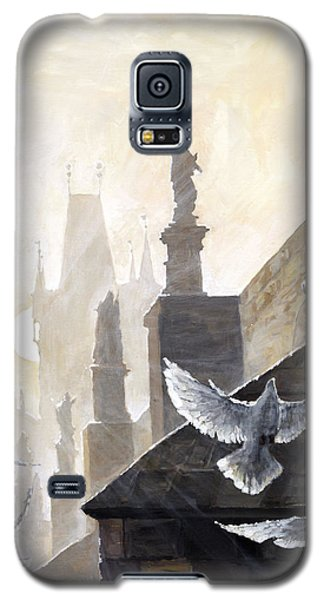 Prague Morning On The Charles Bridge  Galaxy S5 Case by Yuriy Shevchuk