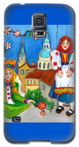 Galaxy S5 Case featuring the painting Prague by Susan Thomas