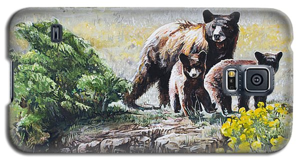 Prairie Black Bears Galaxy S5 Case by Aaron Spong