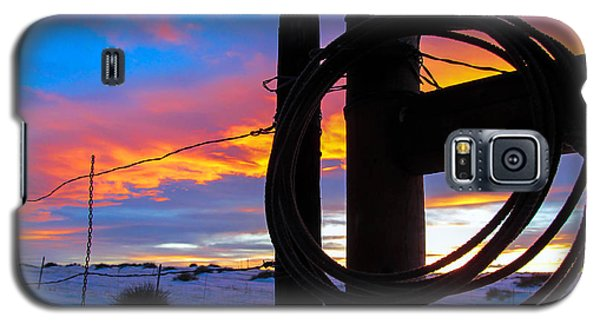 Prairie Fence Sunset Galaxy S5 Case